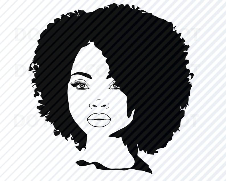 African american woman svg. Afro clipart afro lady