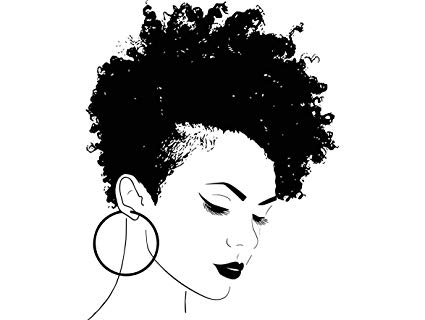 Afro clipart afro lady. Amazon com yetta quiller