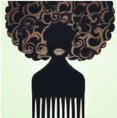 Afro clipart afro pick. Natural hair trendy hairstyles