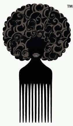 Natural hair style braids. Afro clipart afro pick