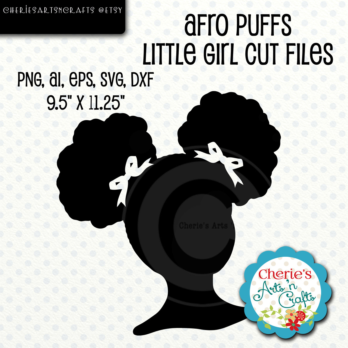 Afro clipart afro puffs. Little girl silhouette svg