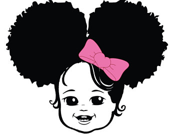 Afro clipart afro puffs. Puff hair svg etsy