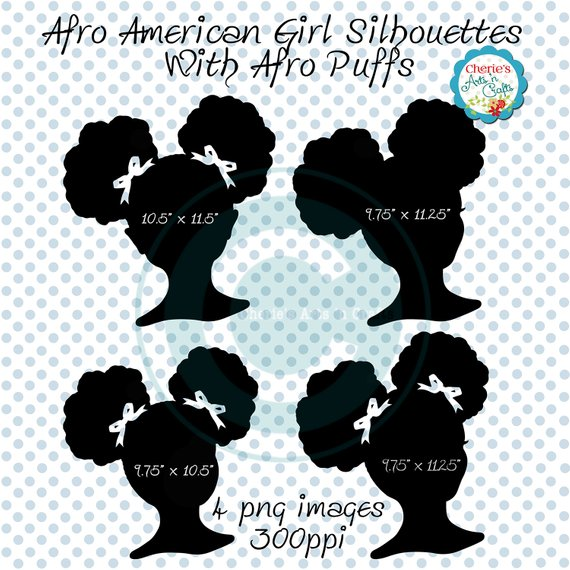 Clip art african american. Afro clipart afro puffs