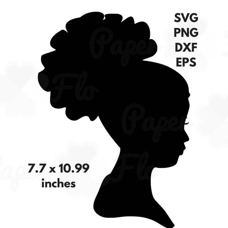 African woman silhouette svg. Afro clipart afro puffs