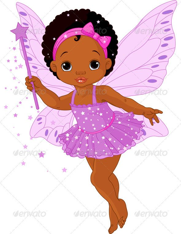 Beautiful clipart cartoon. Cute little baby fairy