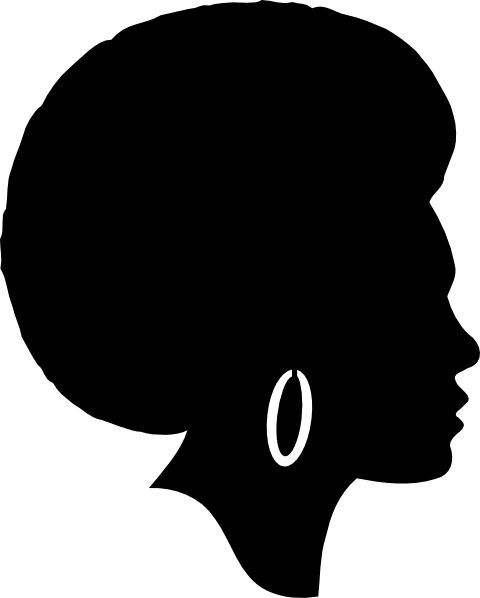 Free woman silhouette clip. Africa clipart afro