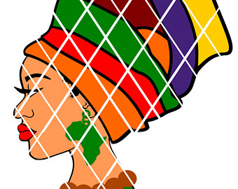 Afro clipart black history. Woman with headwrap svgsvg