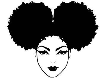 Female clipart afro. Black woman nubian princess