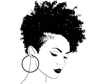 African art etsy nubian. Afro clipart black woman face