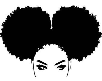 Afro clipart black woman face. Etsy nubian princess queen