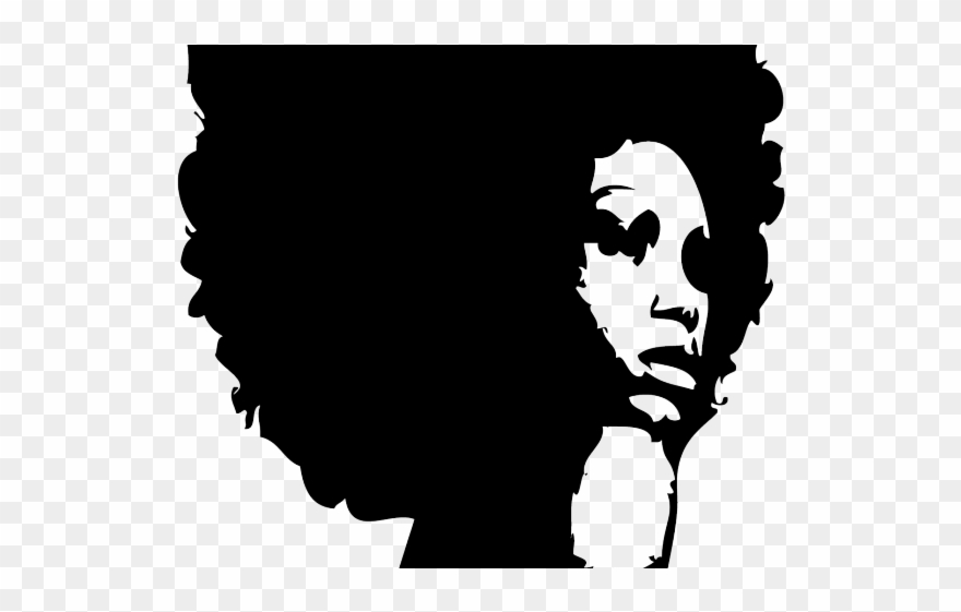 Braid curly silhouette png. Afro clipart black woman face
