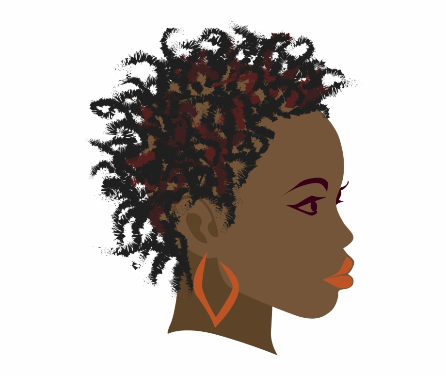 Afro clipart black woman face. Africa braid girl clip