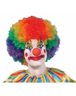 Afro clipart clown hair. Fancy dress headwear wig