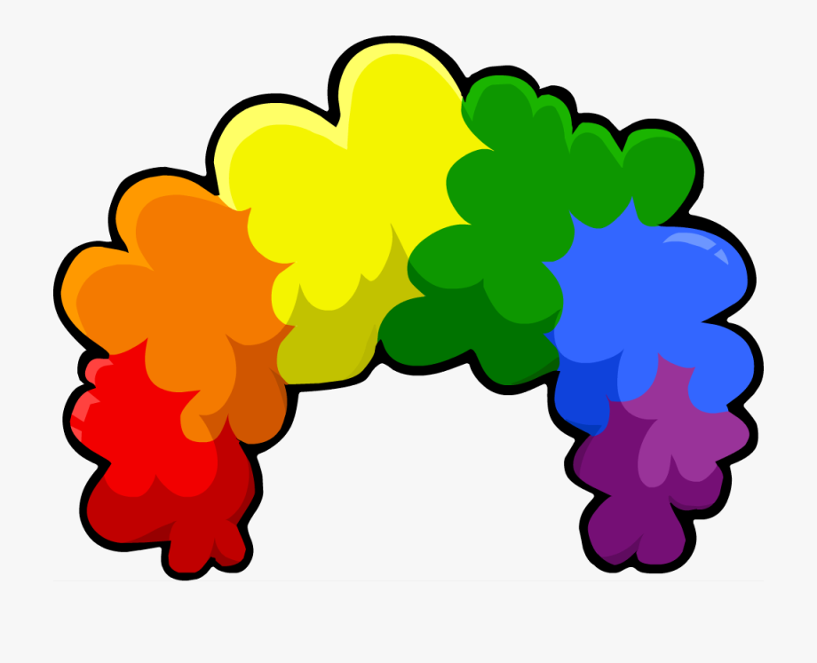 Afro clipart clown hair. Crazy wig transparent background