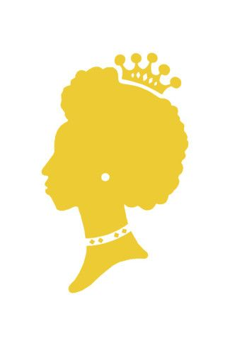 Afro clipart crown silhouette. Of woman wearing silhouettes