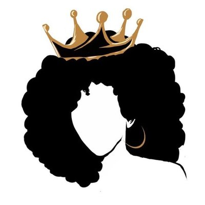 Afro clipart crown silhouette. Black girl at getdrawings