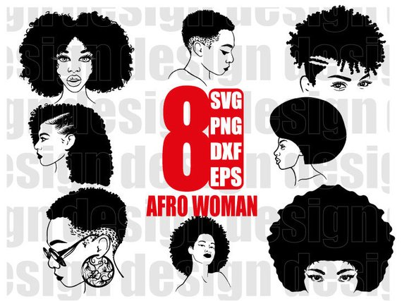Woman svg black funky. Afro clipart curly afro