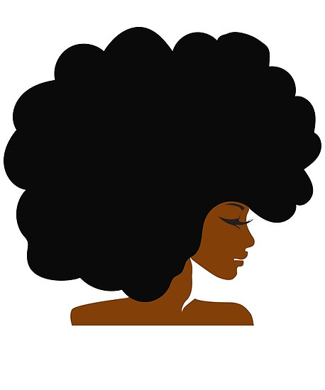 Big natural hair black. Afro clipart curly afro