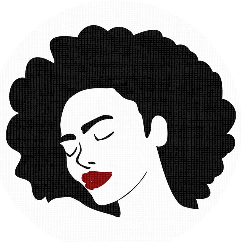 Afro clipart curly afro. Silhouette at getdrawings com