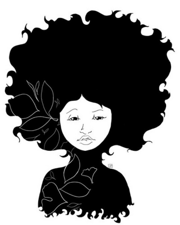 Hair silhouette at getdrawings. Afro clipart curly afro