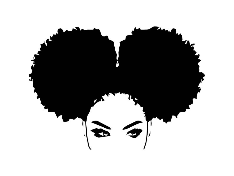 Black girl with free. Afro clipart drawing
