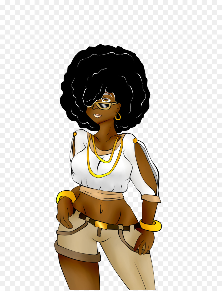 Afro clipart drawing. Woman nail chibi png