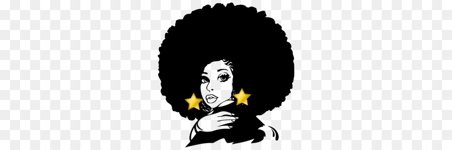 Black girl with afro drawing