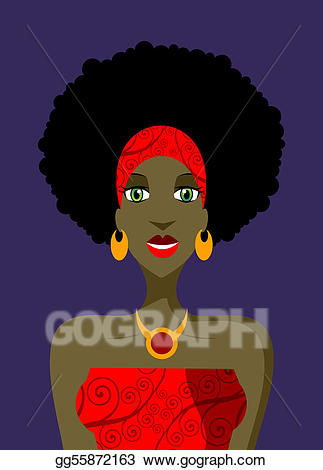 Vector stock woman with. Afro clipart eye