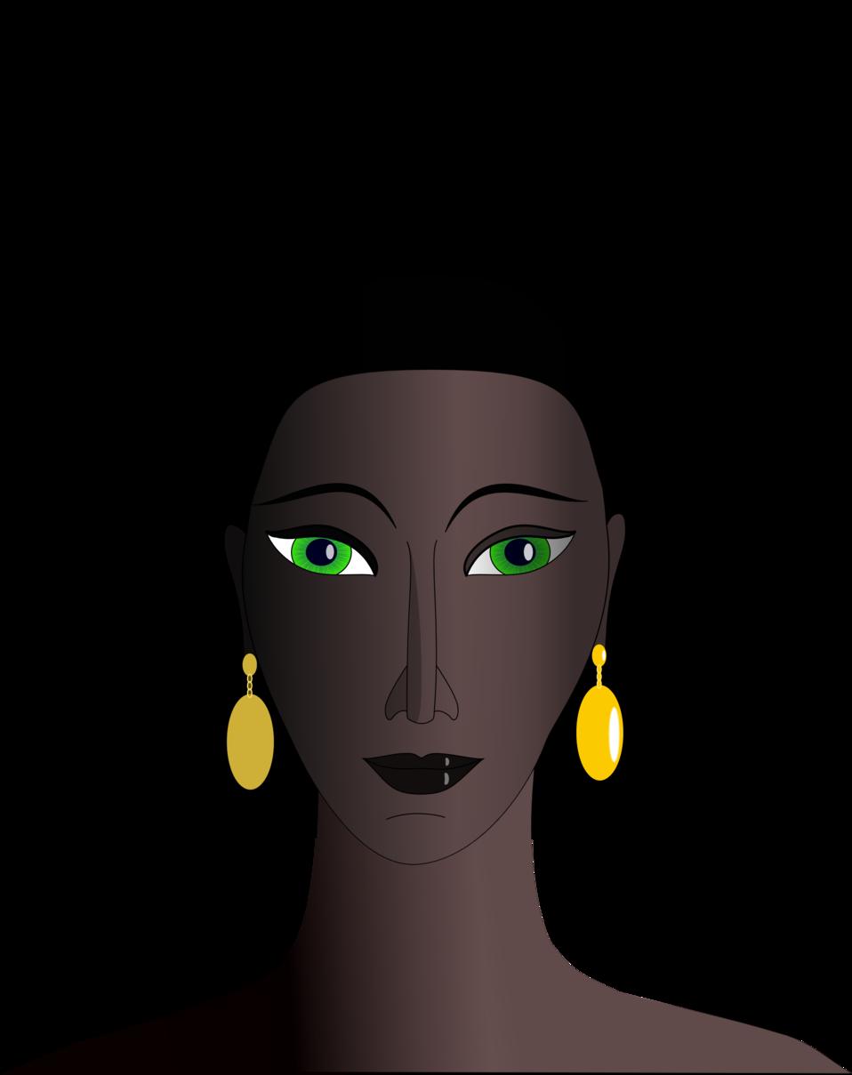 Afro clipart eye. Public domain clip art