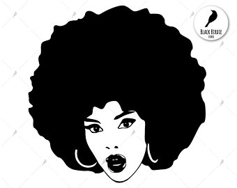 afro clipart female