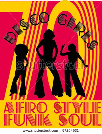 Afro clipart funky. Funk soul vector illustration