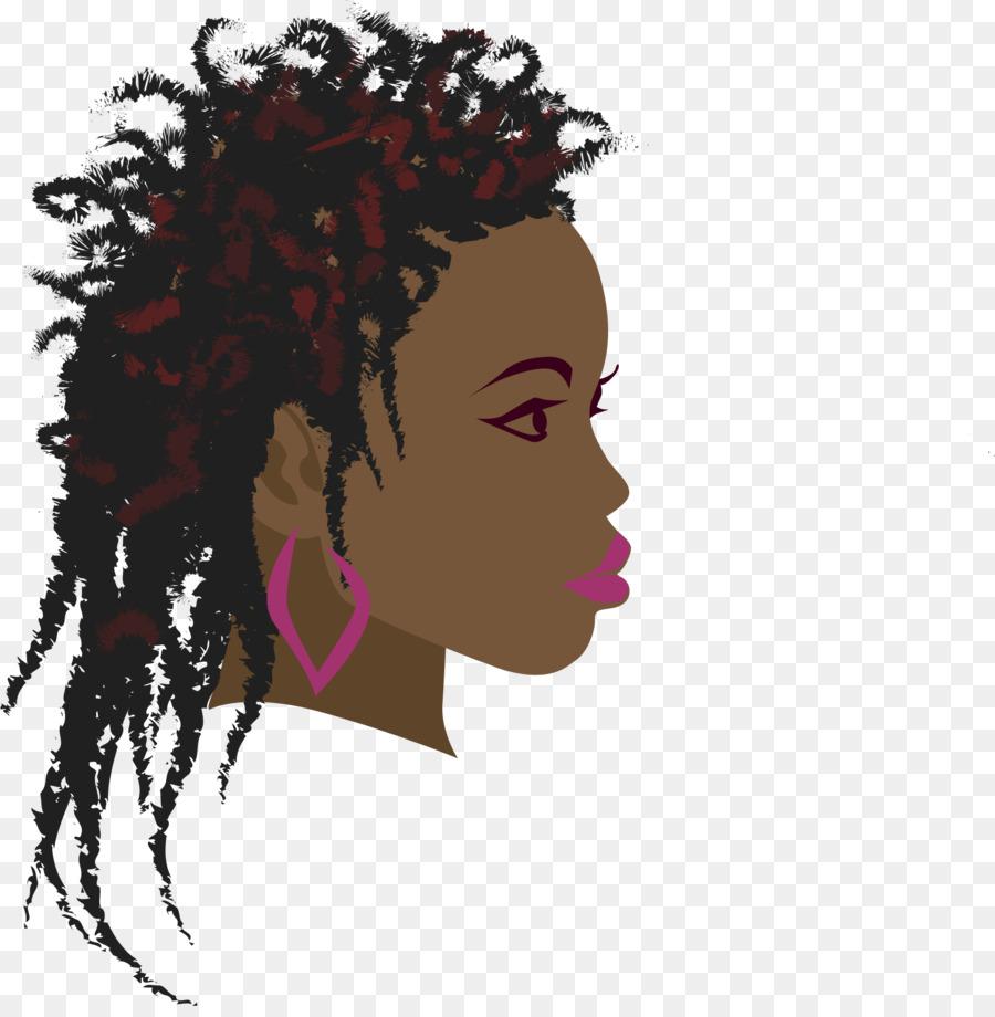 Braid woman black clip. Africa clipart afro