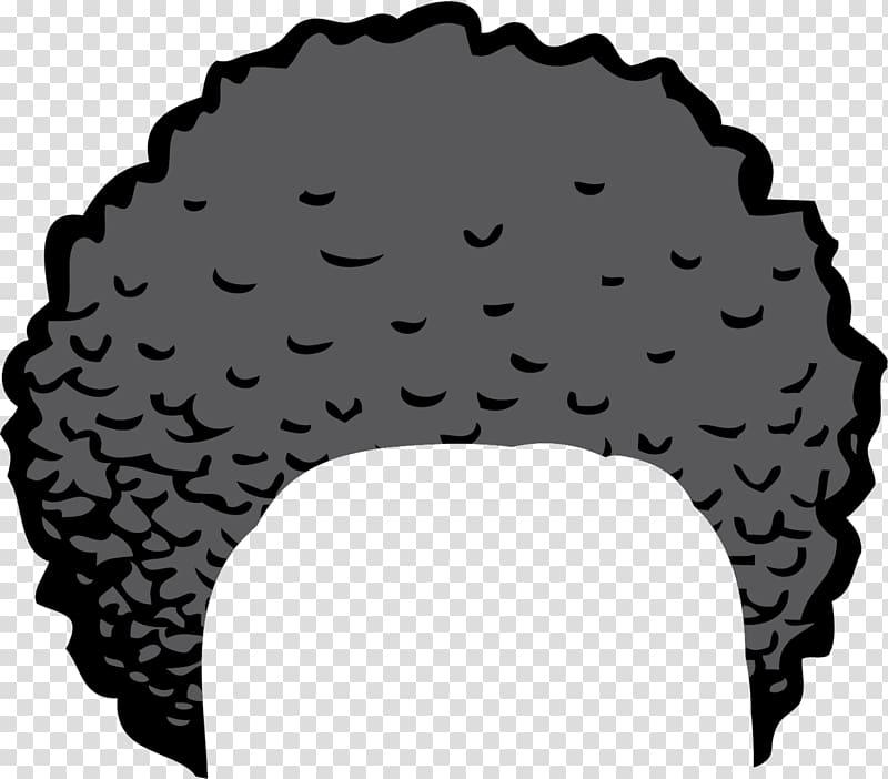 Textured black crazy transparent. Afro clipart grey hair