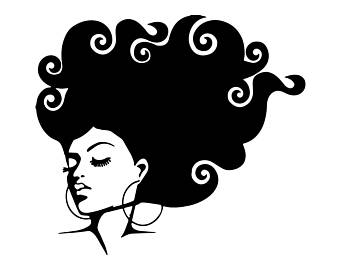 Afro clipart grey hair. Black woman svg etsy