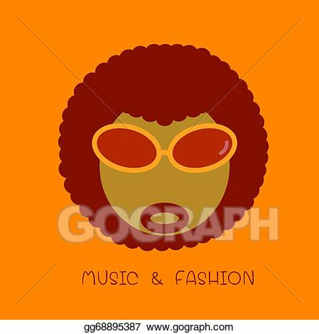 Afro clipart illustration. Vector stock icon gg
