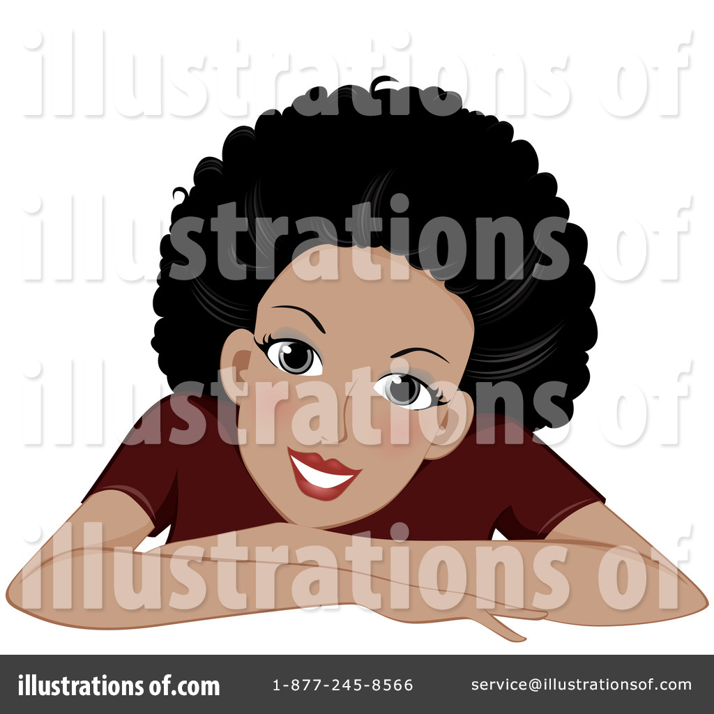 Black woman by bnp. Afro clipart illustration