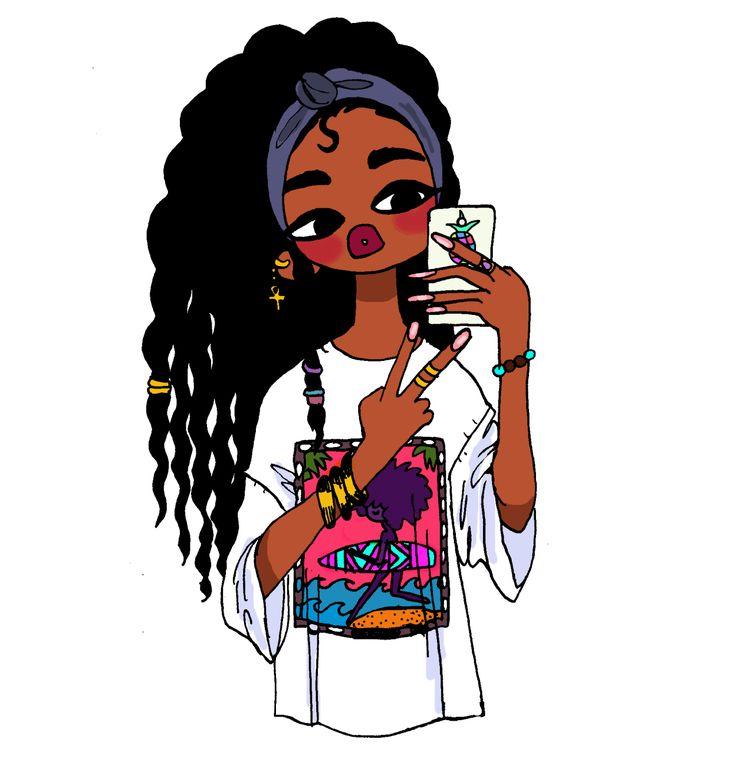 Afro clipart illustration. Black hair animated best