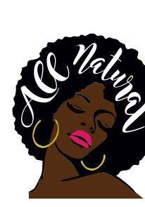 Afro clipart logo. Natural black hair panda