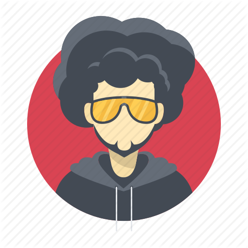 Users by flat icons. Afro clipart male