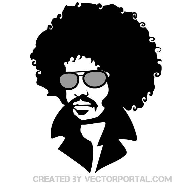 Afro clipart male. Free man silhouette download