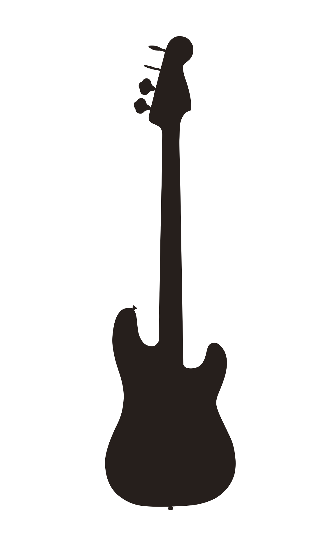 Afro clipart outline. Guitar black and white