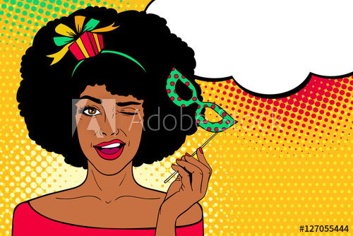 afro clipart pop art