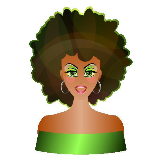 Clipartist net clip art. Female clipart afro