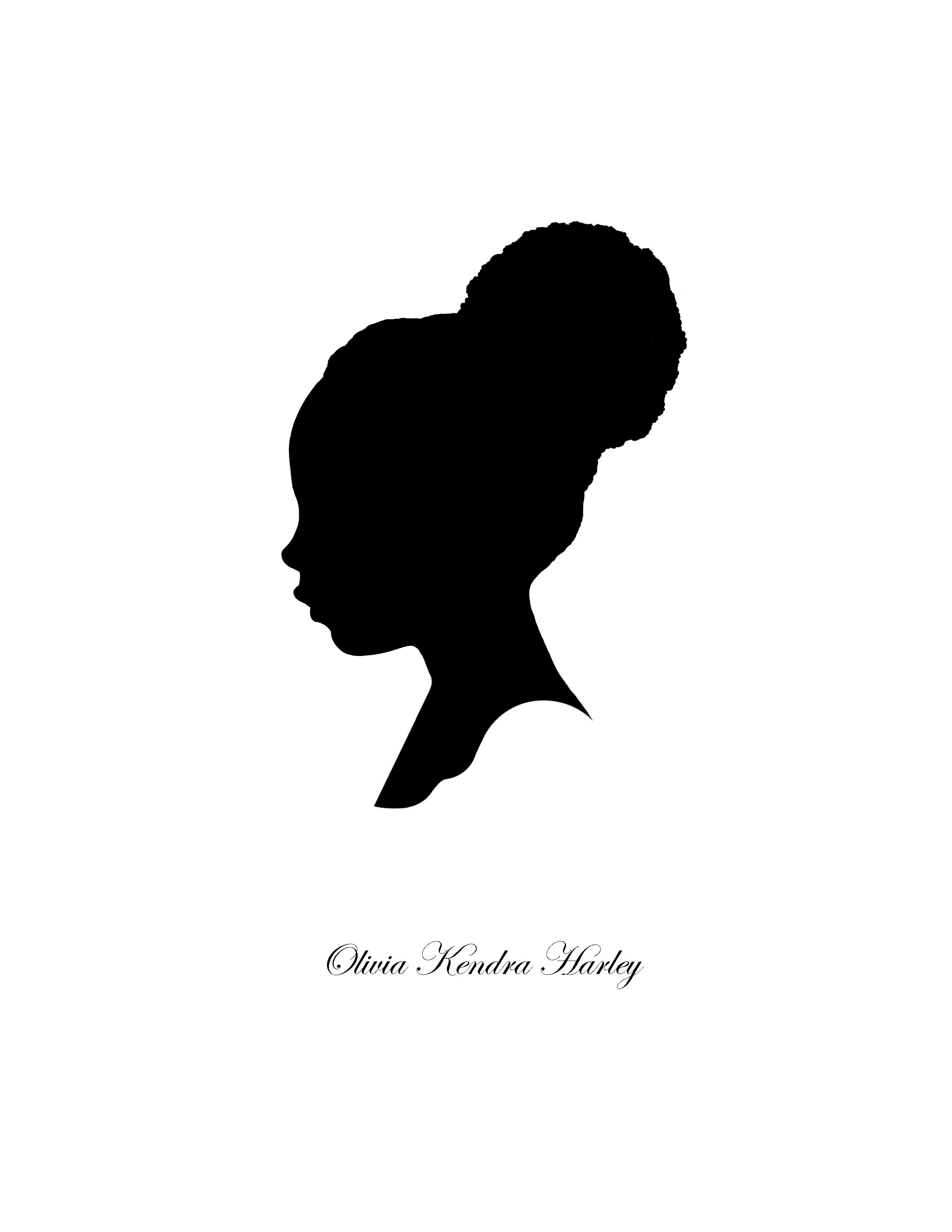 Afro clipart silhouette. Black woman best tattoo