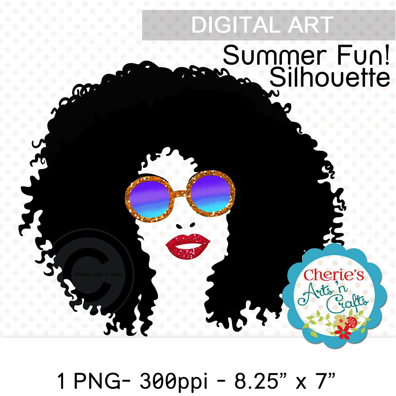 Afro clipart silhouette. Clip art net