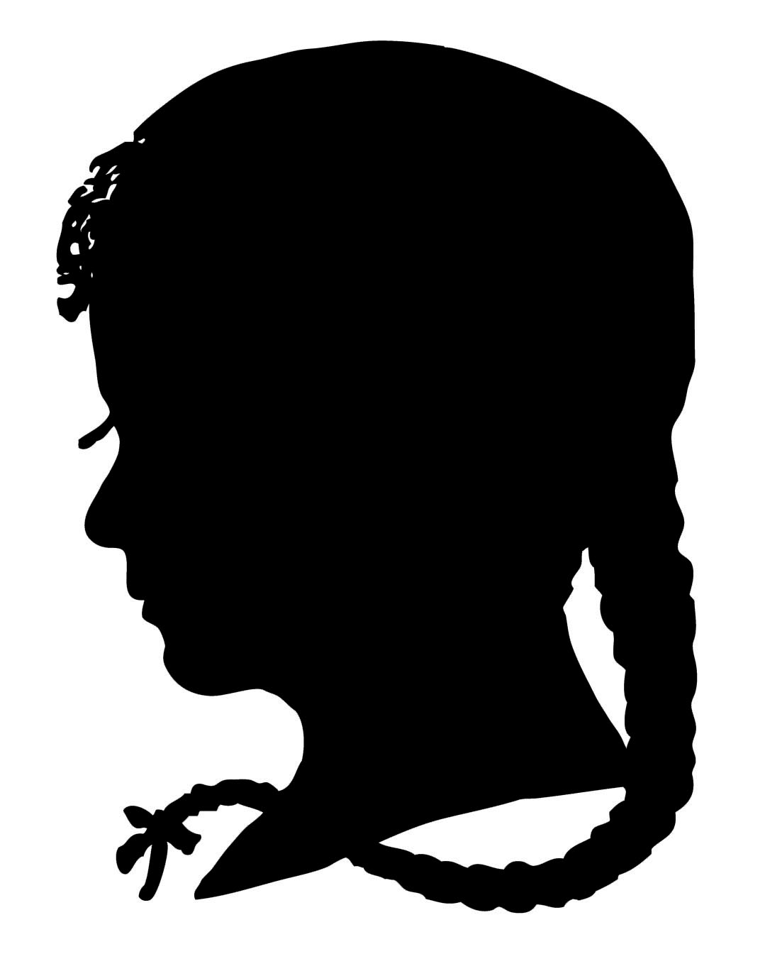 Boy clipart silhouette. Afro hair at getdrawings