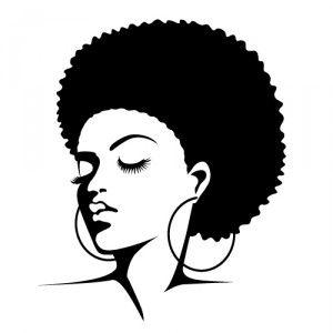 Afro clipart silhouette. Clip art panda free