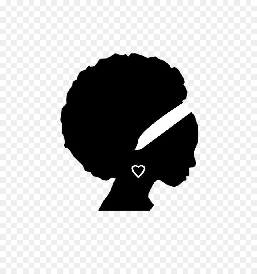 Woman cartoon black . Afro clipart silhouette