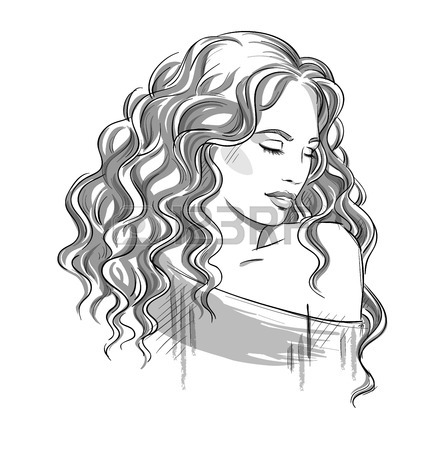 Hair drawing at getdrawings. Afro clipart sketch
