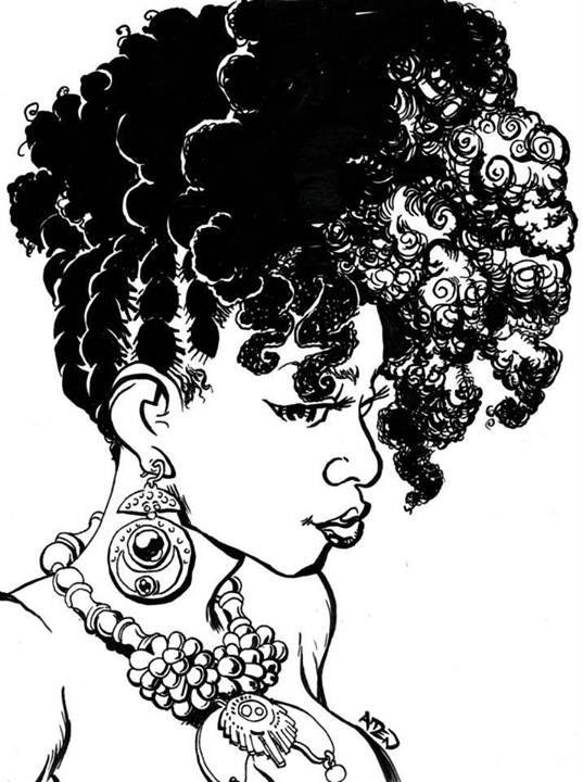Beauty clipart natural beauty. Black girl hair cartoons